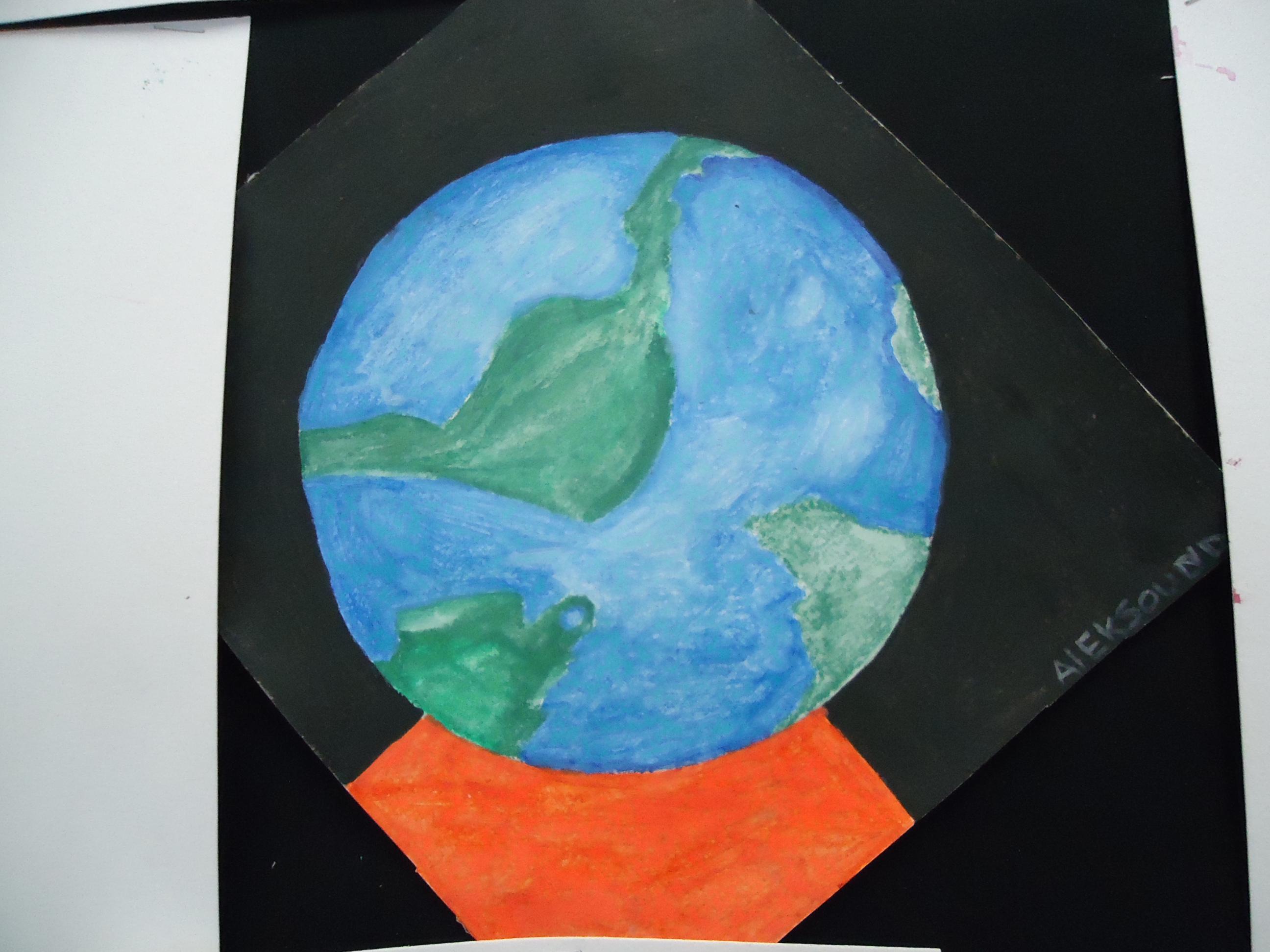 Planète terre aquarelle
